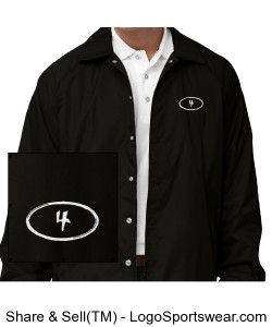 Adult Coaches Windbreaker Jacket Design Zoom