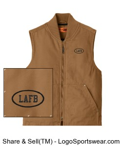 CornerStone® Washed Duck Cloth Vest Design Zoom